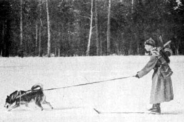 буксировка лыжника